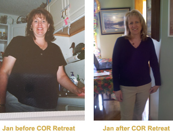 Jan Before and After COR Retreat Food Addiction Program
