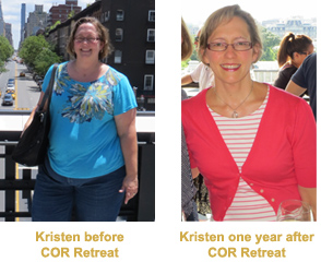 Kristen Before and After COR Retreat