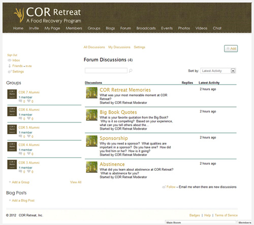 COR Retreat Inc Logo